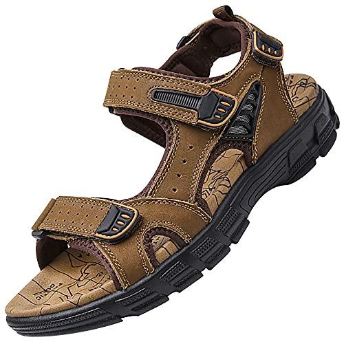 Sandalias Deportivas Para Hombre,Sandalias Deportivas Para Hombre Verano Playa Senderismo Trekking Zapatillas Transpirable Zapatos Ajustable,Brown_43
