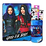 Descendants Bedding Throw Blanket Set for Kids (45 x 60 in) ~ Blanket Bundle for Girls with Villain Stickers and More