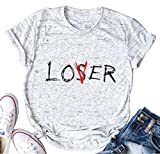 licson Lover Loser Club Shirt Women Funny Casual Inspired Short Sleeve T-Shirt...