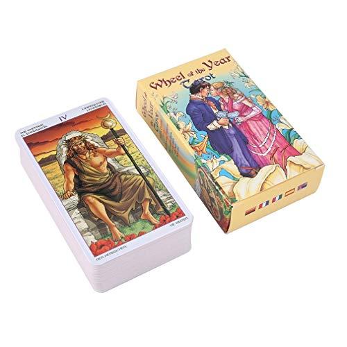 OEFHEIOWJO Tarot lesen Fate Tarot-Kartenspiel for den persönlichen Gebrauch Brettspiel A 78-Karten-Deck