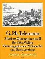 TELEMANN - Cuarteto en Mi menor (TWV:43/e1) (Partitura/Partes)