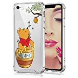 DISNEY COLLECTION iPhone 7 Case,iPhone 8 Case Winnie The Pooh [Military Grade Protection] [Shock-Absorbing] [Scratch-Resistant] [Hard PC + Flexible TPU] Frame Transparent Bumper Protective Cover Case
