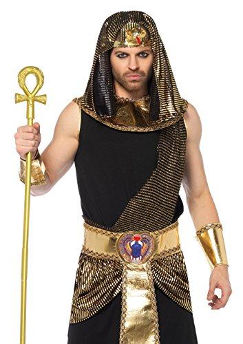 Leg Avenue 856055Pezzi Egiziano Dio, Uomini Carnevale Costume, XL, Colore: Nero/Oro