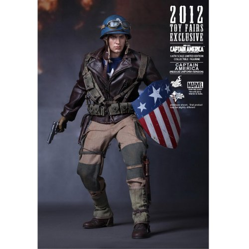Captain America Hot Toys Sideshow First Avenger Rescue Version 2012 Toy Fairs Exclusive