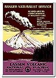 DJNGN Lassen Vulkan-Metall-Blechschilder, Reise-Poster,