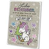 Happy Life Adventskalender mit Motiv Einhorn - Lieber Dezember, 1er Pack (1 x 75 g)