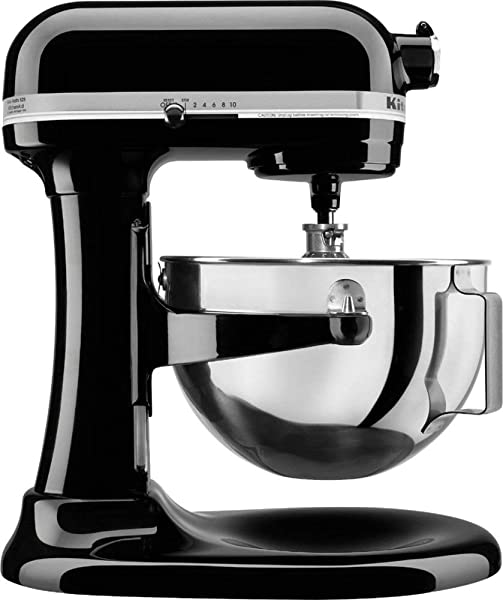 KitchenAid Professional 5 Plus Stand Mixer RKV25G0XOB 5 Quart Onyx Black Renewed