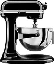 KitchenAid Professional 5 Plus Stand Mixer RKV25G0XOB, 5-Quart, Onyx Black, (Renewed)