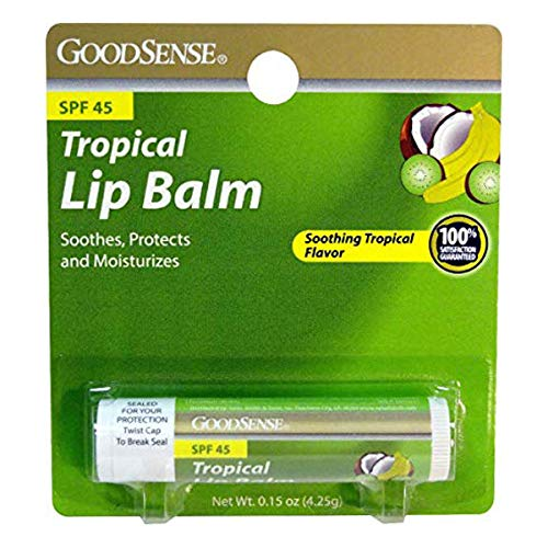 GoodSense Goodsense tropical lip balm spf 45 single pack 0.15 ounce, 0.15 Count