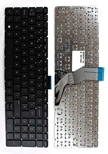 Keyboards4Laptops HP Pavilion 15-ab116ns Negro Windows 8 Layout Reino Unido Teclado de Repuesto para Ordenador portátil
