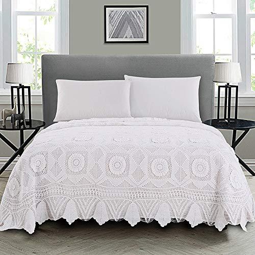 ZXLRH Colcha Acolchada Manual Crochet Reversible Patchwork Design Funda De Cama Multiusos para Dormitorio Habitación 240 * 290 Cm,240 * 290cm