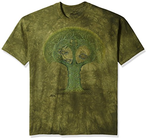 The Mountain Celtic Roots Adult T-Shirt, Green, 3XL