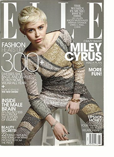 ELLE, MAY, 2014 THE WOMEN IN MUSIC ISSUE (CRAZY SMART MILEY CYRUS HAS PLAN