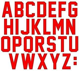 3 Inch Tall Letters Iron On Heat Transfer Vinyl for Sports T-Shirt Jersey Football Baseball,Team,t-Shirt (Black kit) (red)