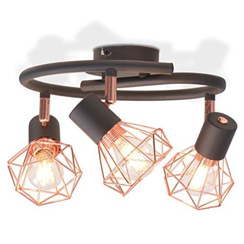 vidaXL Plafonnier 3 Ampoules LED à Filament 12 W Éclairage Lampe Suspension