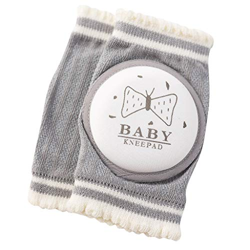 Tivivose La seguridad del bebé niños de la rodillera arrastrándose codo niños pequeños colchón infantiles bebé calentador de la pierna de apoyo de rodilla linda impresión de Protección del calcetín de