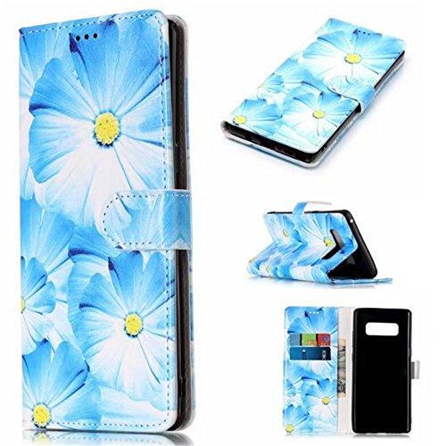 Eazyhurry - Custodia a portafoglio per Samsung Galaxy S6 Edge, chiusura magnetica, in pelle PU, con scomparti per carte di credito, colore: Blu