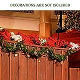 SALCAR PREMIUM Weihnachtsgirlande mit 100 LEDs - 3m - Tannengirlande mit Beleuchtung - 30V - Künstliche Girlande Weihnachtsdeko - Weihnachtsschmuck - Deko für Weihnachten, Treppen, Kamine - Grün - 6