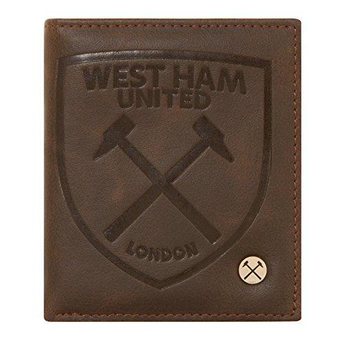 West Ham United FC - Cartera oficial - Cuero sintético - Marrón - Marrón escudo completo