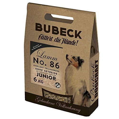 seit 1893 Bubeck Trockenfutter für Hunde | Junior Lamm 6 Kg | Hundefutter getreidefrei | für Welpen Aller Rassen | Vollnahrung