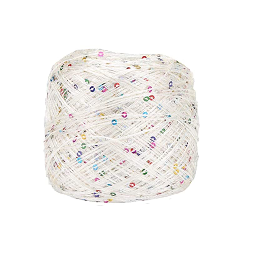 Clisil Ivory Colorful Sequin Yarn,Sparkle Yarn,Sequin Theread,Accessories,Fantasy Yarn,Payet Yarn,Lace Yarn,Lame Yarn,Art Yarn 100g