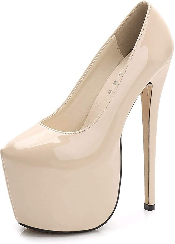 Chx Sexy Large Size Round Head Single shoes Nightclub Super High Heel Waterproof Platform Women's shoes