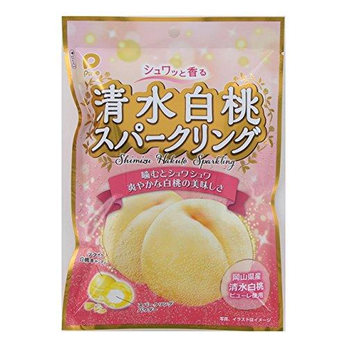 パイン シュワッと香る清水白桃スパークリング 80g×10袋