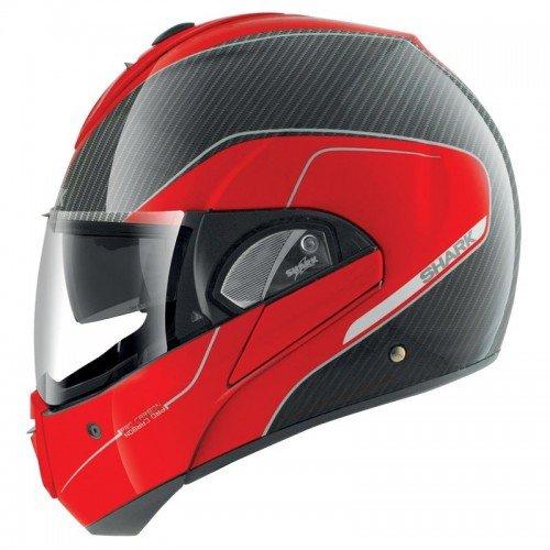 SHARK 677_11792 Motorradhelm Hark Evoline PRO Carbon, Noir/Rouge, XS