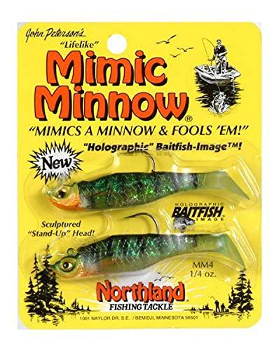 Northland Tackle 1/4oz. Mimic Minnow Shad Jig, Perch