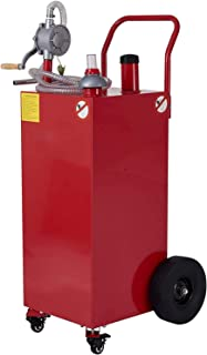 CO-Z 30 Gallon Fuel Tank on Casters & Wheels, Portable Gas Caddy with Fuel Transfer Pump & Hose, Heavy-Duty Gasoline Diese...