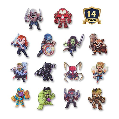 New The Avengers Refrigerator MagnetsMarvel Heroes Fridge Magnets Set of 14 Marvel CharactersFinal Battle Perfect Decorative Magnet