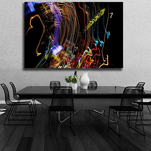 Lunderliny Abstract Light Canvas Oil Painting For Living Room Modern Home Decor Pictures Wall Art Posters Artworks 40x60cm