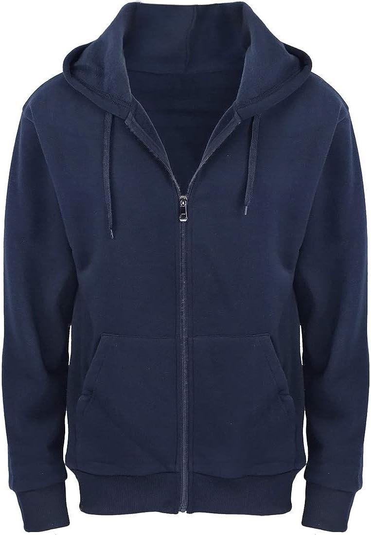 Fleece Hoodies for Men Zipper Lightweight Spring Long Sleeve Active Mens Jackets Sports Full Zip Sweatshirts