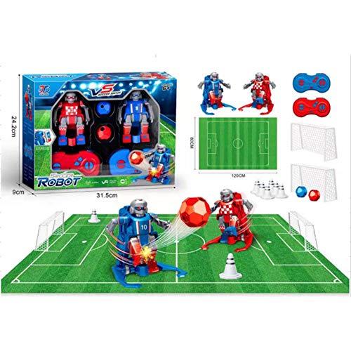 rosemaryrose Juego De Mesa Futbol Futbolin para Niños Robot Interactivo | Juguete Robots Teledirigidos Incluye Campo, Porterias, Mandos Y Conos Entrenamiento, Regalo Navidad Cumpleaños