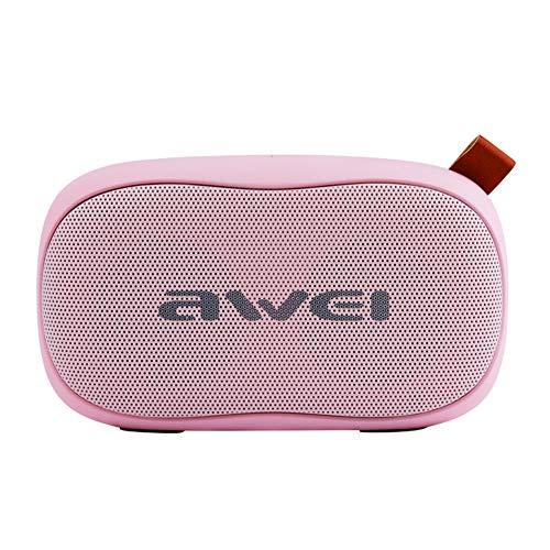 ZNMJW Altavoz Bluetooth Mini Tarjeta Subwoofer de Audio Portátil Ordenador al Aire Libre Rosa