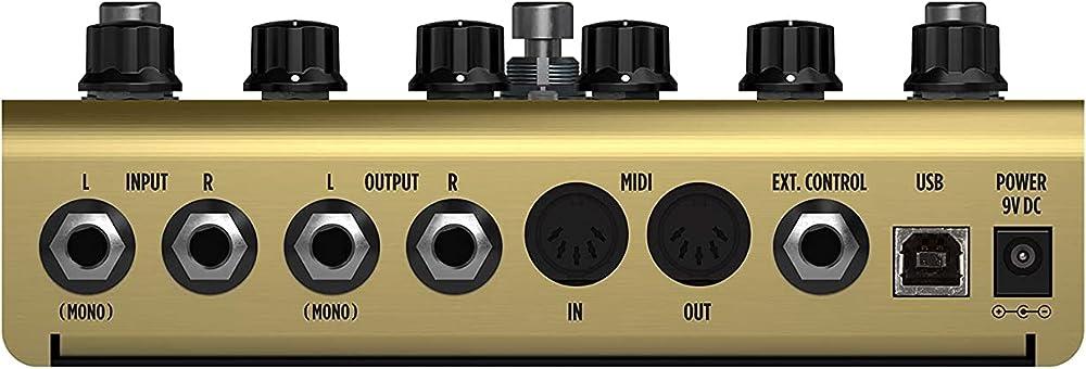 AmpliTube X-VIBE:リアパネル