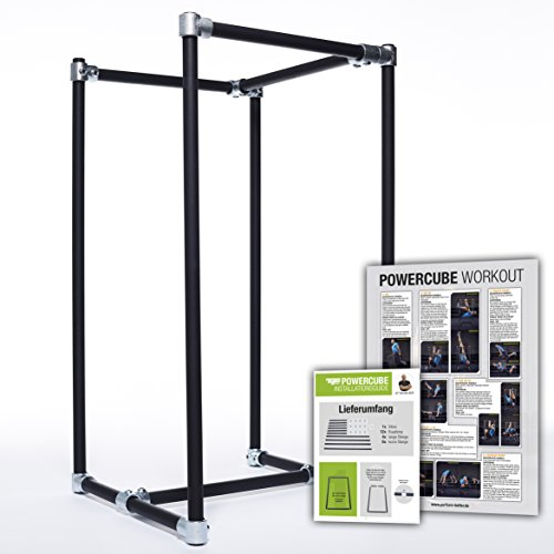 Perform Better Europe PowerCube Dip Station, schwarz, 113 x 63 x 63cm