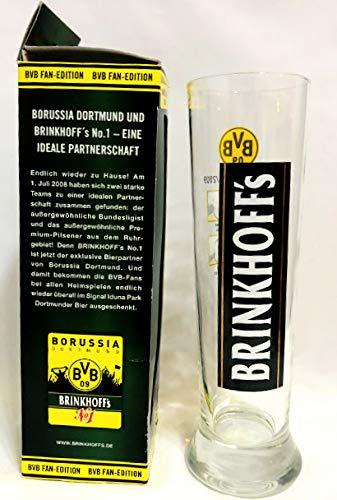 Brinkhoff's Glas 0,3l / BVB Fan Edition/Borussia Dortmund/Sammelglas 4 / Sturm/Manschaft 2008/2009 / Bier/Biergläser/Bar/Gastro /