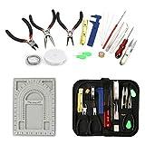 Yizunnu - Juego de 23 herramientas de reparación de alicates para cuentas de alambre