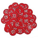 Anladia 1-50 numeriert Kennzeichnungsmarken Textmarken Zahlenmarken Schlüsselmarken