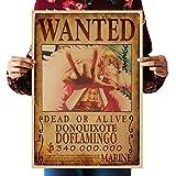 WholesaleSarong Donquixote Doflamingo Wanted Anime Manga Cosplay Poster Vintage Wall Decor