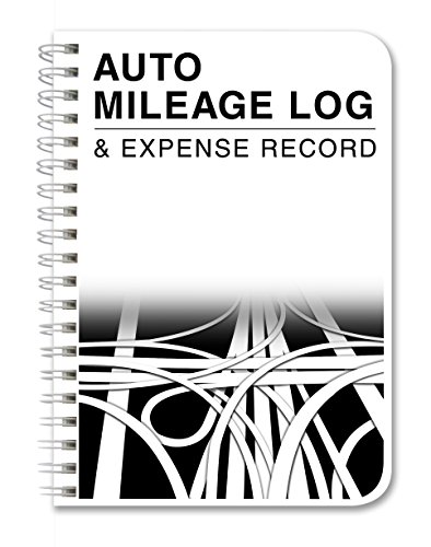 "BookFactory Mileage Log Book/Auto Mileage Expense Record Notebook for Taxes - 126 Pages - 5"" X 7"" Wire-O (LOG-126-57CW-A(Mileage))"