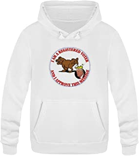 WYL SS Anti Trump I Approve This Message Unisex Pullover Cotton Hooded Sweatshirt
