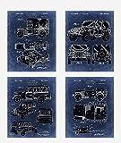 Wall Art Home Decor Jeep Cars Patent Poster Prints Set mit