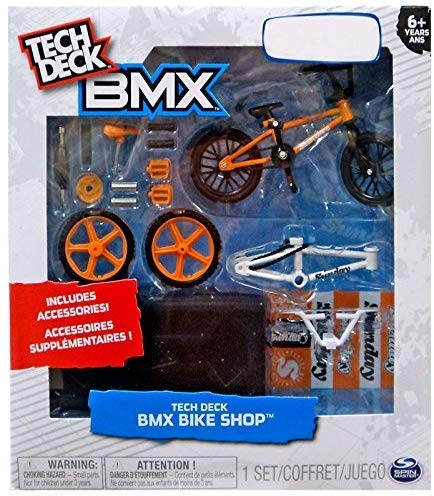 Tech Deck BMX Bike Shop with Accessories and Storage Container - Design Your Way Bike Toy - CULT Bikes Design - Orange and Black - For Ages 6 and Up