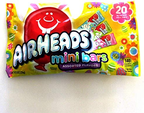 Airheads 1 bag Easter Mini Bars Candy Strawberry Green Apple Blue Raspberry 8 oz 226 g product image