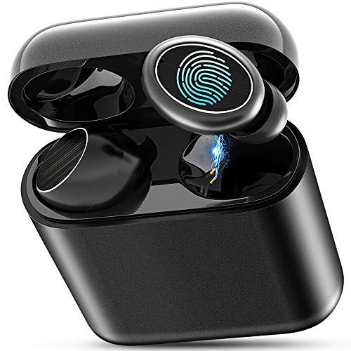 Bluetooth Kopfhörer, Winisok Kabellose Bluetooth Kopfhörer in Ear Ohrhörer Kopfhörer Sport Kopfhörer IPX7 Bass HD Stereo/120H mit Ladebox/ 2 Mics/ 6 Ohrspitzen Bluetooth 5.0 Headset Wireless