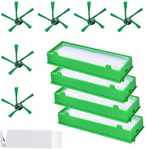 Kit de accesorios piezas de repuesto 6 cepillos laterales y 4 filtros Hepa y 1 herramienta de limpieza, accesorios para aspiradora Vorwerk Kobold VR200 VR300