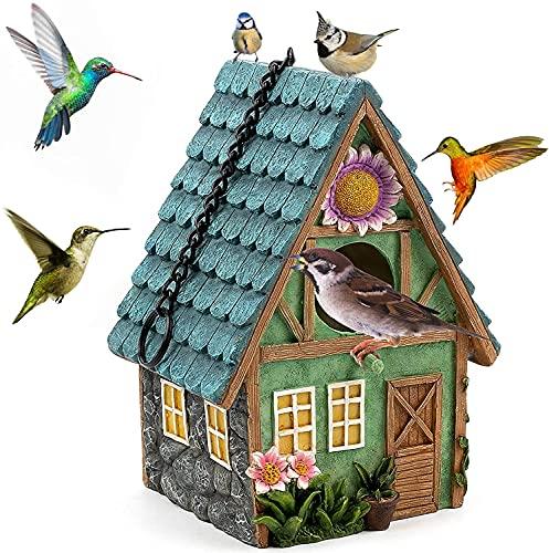 Nistkästen für vögel, für den Außenbereich, natürliches Vogelhaus, zum Aufhängen, für blaue Meisen, Kolibis, Spatzel und andere Wildvögel, Dekoration für Haus und Garten, Loch 40 mm