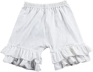 Little Girl Double Icing Ruffle Cotton Shorts Bike Sport Bottom Pants Activewear